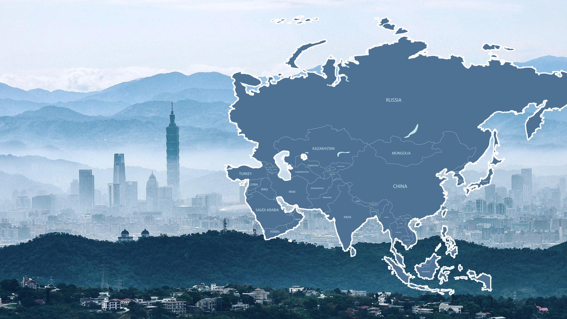 Slepá mapa Asie – Výběr 12 map ke stažení